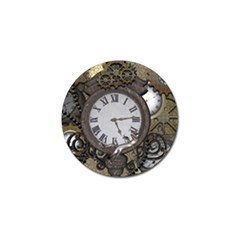 Steampunk, Awesome Clocks With Gears, Can You See The Cute Gescko Golf Ball Marker (10 Pack) by FantasyWorld7