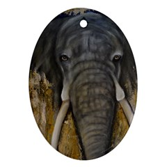 In The Mist Oval Ornament (two Sides) by timelessartoncanvas
