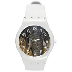 In The Mist Round Plastic Sport Watch (m) by timelessartoncanvas