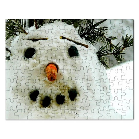Snowman Puzzle 2015 By Pamela Sue Goforth   Jigsaw Puzzle (rectangular)   4t6uw5n26b6h   Www Artscow Com Front