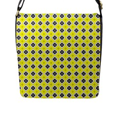 Yellow Black Flap Closure Messenger Bag (l) by 4SeasonsDesigns
