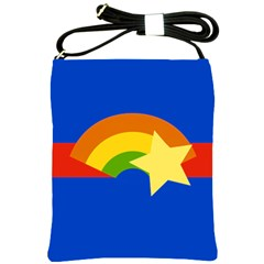 Rainbow Shoulder Sling Bag by Ellador