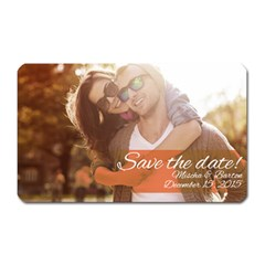 Save the Date Magnet (Rectangular) by typewriter
