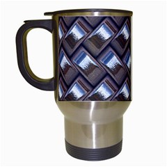 Metal Weave Blue Travel Mugs (white) by MoreColorsinLife