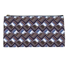 Metal Weave Blue Pencil Cases by MoreColorsinLife