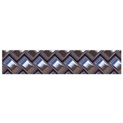 Metal Weave Blue Flano Scarf (small)  by MoreColorsinLife