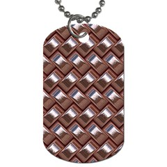 Metal Weave Pink Dog Tag (One Side) by MoreColorsinLife