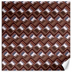 Metal Weave Pink Canvas 20  X 20   by MoreColorsinLife