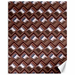Metal Weave Pink Canvas 11  X 14   by MoreColorsinLife