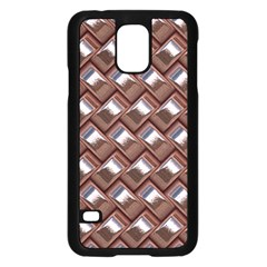 Metal Weave Pink Samsung Galaxy S5 Case (black) by MoreColorsinLife