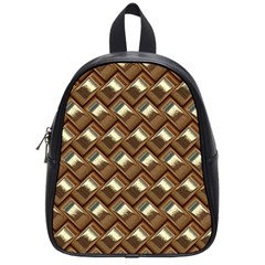 Metal Weave Golden School Bags (small)  by MoreColorsinLife
