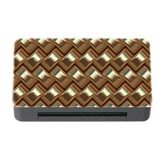 Metal Weave Golden Memory Card Reader With Cf by MoreColorsinLife