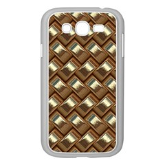Metal Weave Golden Samsung Galaxy Grand Duos I9082 Case (white) by MoreColorsinLife