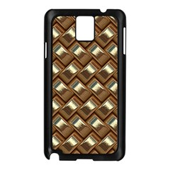Metal Weave Golden Samsung Galaxy Note 3 N9005 Case (black) by MoreColorsinLife