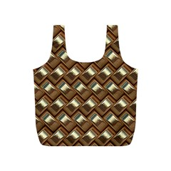 Metal Weave Golden Full Print Recycle Bags (S)  by MoreColorsinLife