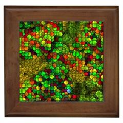 Artistic Cubes 01 Framed Tiles by MoreColorsinLife