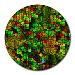 Artistic Cubes 01 Round Mousepads by MoreColorsinLife