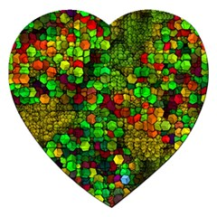 Artistic Cubes 01 Jigsaw Puzzle (heart) by MoreColorsinLife