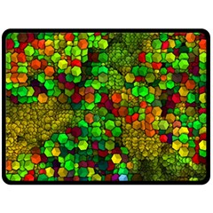 Artistic Cubes 01 Double Sided Fleece Blanket (Large)  by MoreColorsinLife