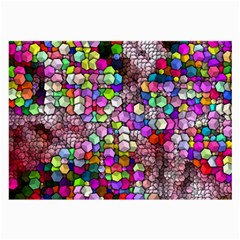 Artistic Cubes 3 Large Glasses Cloth (2 Side) by MoreColorsinLife