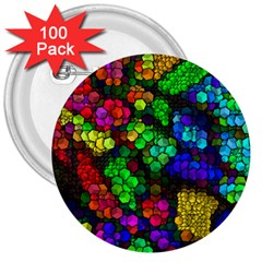 Artistic Cubes 4 3  Buttons (100 Pack)  by MoreColorsinLife