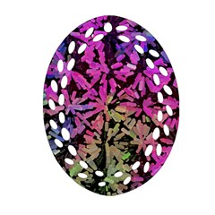 Artistic Cubes 5 Oval Filigree Ornament (2-Side)  by MoreColorsinLife