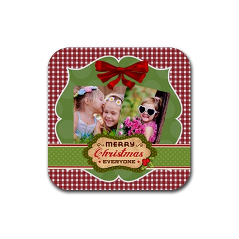 Xmas By Xmas   Rubber Coaster (square)   6i3sdn236i8j   Www Artscow Com Front
