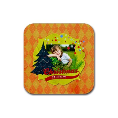 Xmas By Xmas   Rubber Coaster (square)   0m3ga52d9uyu   Www Artscow Com Front
