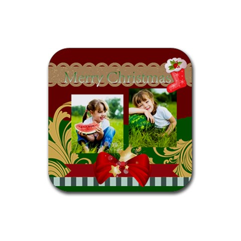 Xmas By Xmas   Rubber Coaster (square)   49tnnkusw2zy   Www Artscow Com Front