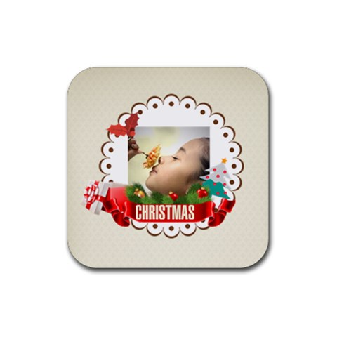 Xmas By Xmas   Rubber Coaster (square)   Itogc2vgcmic   Www Artscow Com Front