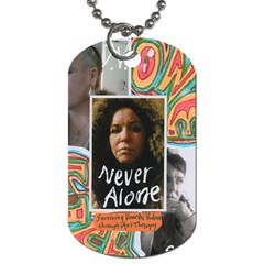Two Sid Never Alone Dog Tag By Sally O keeffe   Dog Tag (two Sides)   Omi13w60z19j   Www Artscow Com Back