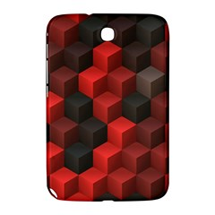 Artistic Cubes 7 Red Black Samsung Galaxy Note 8.0 N5100 Hardshell Case  by MoreColorsinLife