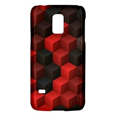 Artistic Cubes 7 Red Black Galaxy S5 Mini by MoreColorsinLife