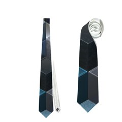 Artistic Cubes 9 Blue Neckties (two Side)