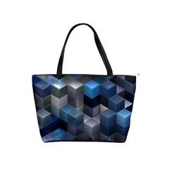 Artistic Cubes 9 Blue Shoulder Handbags by MoreColorsinLife