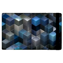 Artistic Cubes 9 Blue Apple Ipad 3/4 Flip Case by MoreColorsinLife