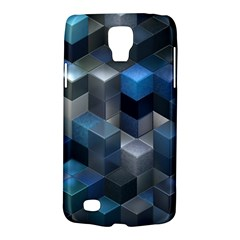 Artistic Cubes 9 Blue Galaxy S4 Active by MoreColorsinLife