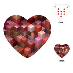 Artistic Cubes 9 Pink Red Playing Cards (Heart)  by MoreColorsinLife