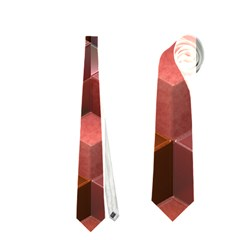 Artistic Cubes 9 Pink Red Neckties (one Side)