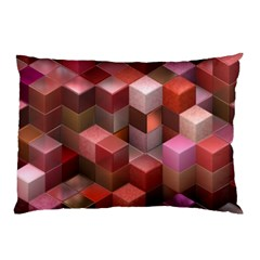Artistic Cubes 9 Pink Red Pillow Cases by MoreColorsinLife