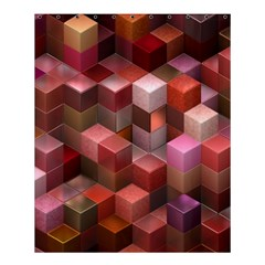 Artistic Cubes 9 Pink Red Shower Curtain 60  X 72  (medium)  by MoreColorsinLife