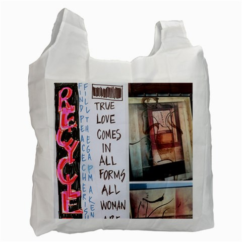 Recycle By Sally O keeffe   Recycle Bag (one Side)   Ge33epp67rqf   Www Artscow Com Front