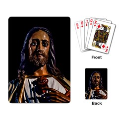 Jesus Christ Sculpture Photo Playing Card by dflcprints