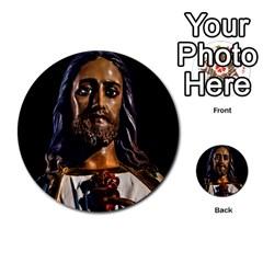 Jesus Christ Sculpture Photo Multi Purpose Cards (round)