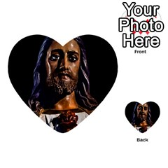 Jesus Christ Sculpture Photo Multi Purpose Cards (heart)