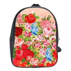 Pretty Sparkly Roses School Bags(large)  by LovelyDesigns4U