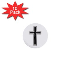 Christian Cross 1  Mini Button (10 Pack)  by igorsin