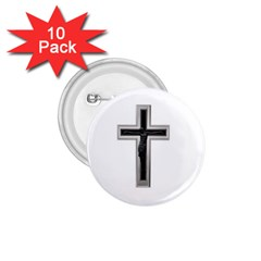 Christian Cross 1 75  Button (10 Pack)  by igorsin