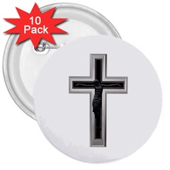 Christian Cross 3  Button (10 Pack) by igorsin
