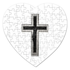 Christian Cross Jigsaw Puzzle (heart) by igorsin